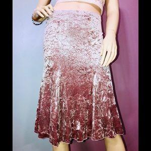 Silvergate • Crushed Pink Velvet Skirt / size (S)